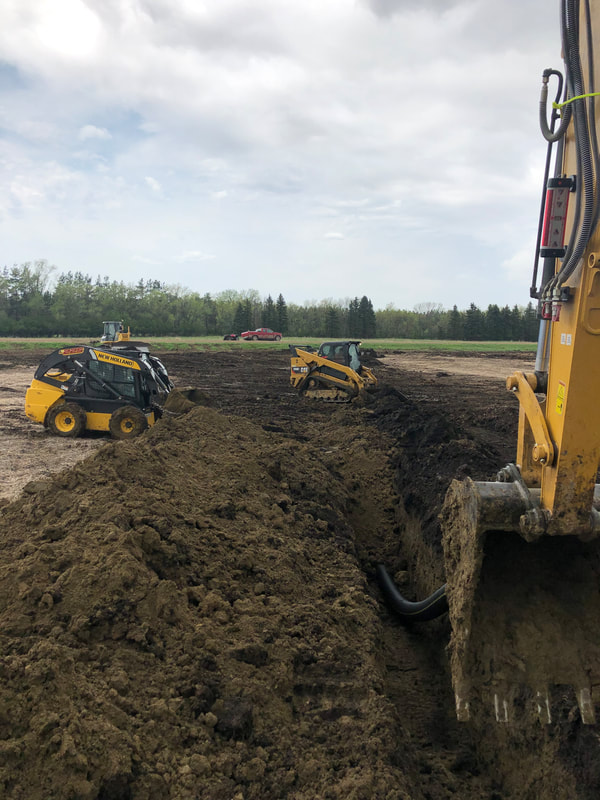 Dirt work machinery, skidsteer, backhoe